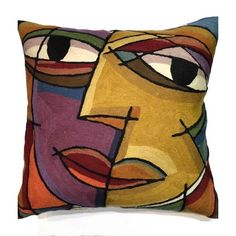 Picasso Pillows The Kiss, Purple Pillow Cover ❤ liked on Polyvore featuring home, home decor, throw pillows, purple toss pillows, purple accent pillows, inspirational throw pillows, purple home decor and contemporary home decor