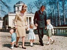 Circa 1965, Prince Albert and Princess Paola with their 3 children - Prince Laurent, Princess Astrid, and Prince Phillipe.