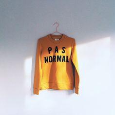 Pas Normal    Yellow sweatshirt from Rika. (Photo courtesy: laurapshort's photo…