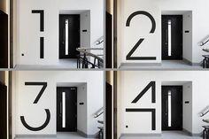 Signage / Bespoke floor numbers. Pic courtesy of Jack Hobhouse.