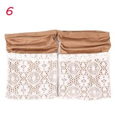 1Pair Fashion Spring Autumn Winter Women Crochet Knitted Lace Trim Leg Warmers Leggings Cuffs Toppers Boot