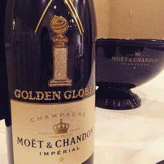 Champagne personalizada para a cerimônia do Globo de ouro  (Foto: reprodução)
