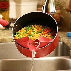 Hot Silicone Soup Funnel Kitchen Gadget Tools Water Deflector Cooking Tool