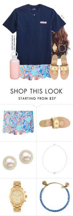 """""""Repeat"""" by aweaver-2 on Polyvore featuring Lilly Pulitzer, Jack Rogers, Honora, Shop Latitude Bazaar, Michael Kors, Alex and Ani and Contigo"""