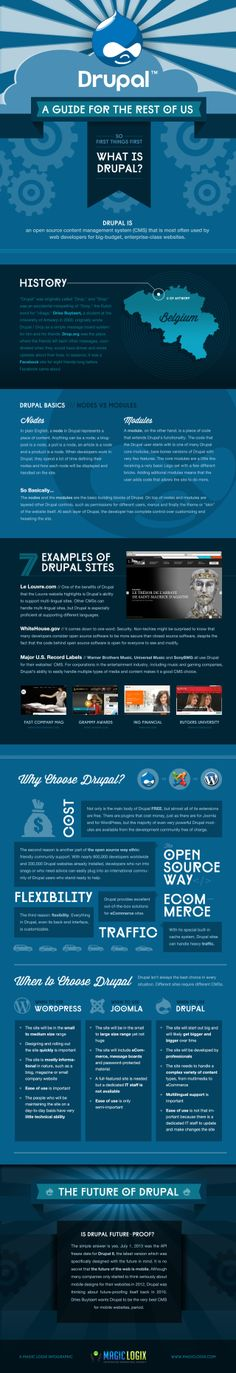 Drupal a guide for the rest of us #infografia #infographic #cms