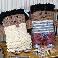 Crochet Dolls Design More Pillow Dolls Crochet ePattern - Number of Designs: Design Size: Girl x 9 Boy 17 x 9 Anne HallidayOriginal Publication: Leisure Arts Leaflet Crochet Cushions, Crochet Pillow, Crochet Bear, Cute Crochet, Crochet Animals, Crochet Dolls, Amigurumi Doll, Amigurumi Patterns, Doll Patterns