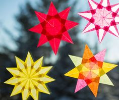These glowing stars are an easy and satisfying craft for adults and kids ages five and up (and younger, with some help).  If you start with square paper, there's no cutting involved—just folding an...