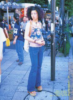 Early 2000s Fashion, 90s Fashion, Fashion Outfits, Harajuku Fashion, Japan Fashion, Aesthetic Fashion, Aesthetic Clothes, Tokyo Street Style, Japanese Street Fashion