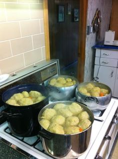 My Mom's Legendary Galicianer (Sweet) Gefilte Fish (Photo looks more like matzo balls, though).  JUST DON'T ADD SALT!