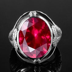 Genuine 925 Sterling Silver Ring Created Ruby Egg Stone for Men Vintage Hollowed Flower Women Party Cocktail Ring Fine Jewelry. Yesterday's price: US $23.10 (19.06 EUR). Today's price: US $23.10 (19.06 EUR). Discount: 86%.