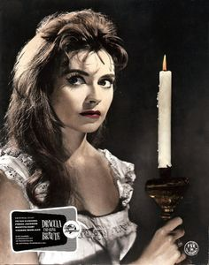 Bride of Dracula | Hammer Horror - Nightgown looking dress, bite mark on neck, dripping blood