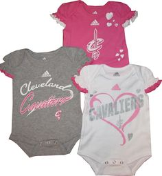 acc6b610d24 Amazon.com  Cleveland Cavaliers GIRLS Pink 3pc Creeper Set Infant Baby 0-3  Months (0-3 Months)  Sports   Outdoors