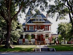 Paxton Illinois Red Victorian House.