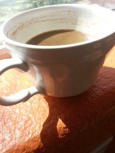 The Perfect Cup of Coffee http://farmboylogic.com/the-perfect-cup-of-coffee/ #delish #coffee #kerrygoldbutter #cinnamon #darkchocolate #perfection