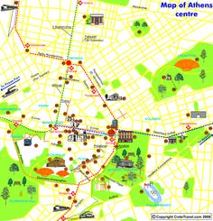 Map of Athens Tourist - Travel - Holiday - Map - Travelquaz. Athens Map, Athens Greece, Greece Travel, Greece Trip, Travel Maps, Travel Europe, Tourist Map, Funny Kids, Party Games