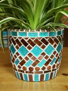 mosaic planter by patsy