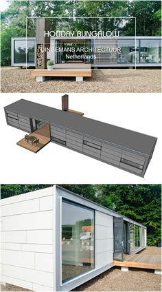 Container holiday bungalow Dingemans Architectuur Netherlands