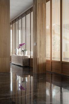 ZEN RESORT Lobby Interior, Office Interior Design, Clubhouse Design, Door And Window Design, Wooden Room, Column Design, Spa Rooms, Spa Design, Japanese Interior