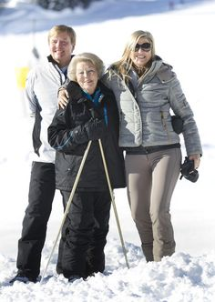 Dutch royal ski in Lech, Austria Feb. 18, 2013