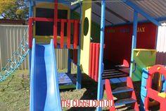 A super bright, fun cubby house for Aussie kids! #CubbyIdeas #BackyardIdeas #Christmas #Family #Layby #MyCubby #CubbyHouse #Cubbies #Cubby #OutdoorPlay #Kids #AussieKids #HappyKids #Backyard