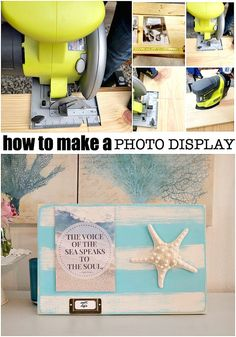 How to make a photo display using scrap wood