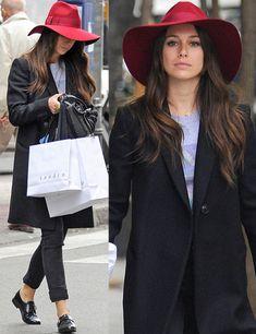 Blanca Suárez la it girl española apuesta por el sombrero para dar color a su outfit. #sombreros #blancasuarez #hats