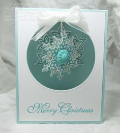 Suspended Snowflake card