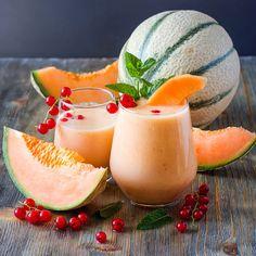 Cremiger Eiweißshake mit Melone