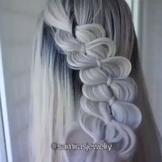 Hairstyles For School Videos Heatless - Hairstyles Grey Hair Cure, Grey Hair Wig, Lace Hair, Hair Dye, Hair Comb, Heatless Hairstyles, Quick Hairstyles, Hairstyles For School, Braided Hairstyles
