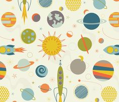 Out in Space fabric by katerhees on Spoonflower - custom fabric