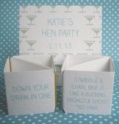 personalised hen party dares popping card by paperbuzz cards | notonthehighstreet.com