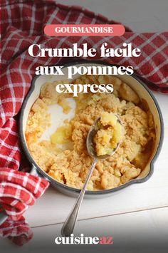 Le crumble aux pommes express est un dessert facile à préparer avec les enfants pour la fête des mères. #recette#cuisine#crumble #pomme #fruit#patisserie Lunch Time, Mashed Potatoes, Cereal, Oatmeal, Breakfast, Ethnic Recipes, Food, Whipped Potatoes, The Oatmeal