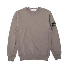 Classic premium brushed cotton Garment Dye Crewneck Sweatshirt from Stone Island. Essential.
