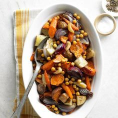 Roasted Vegetables and Chickpeas.