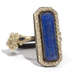 #Armenta Old World #SterlingSilver 18K Yellow #Gold #Lapis & #Diamond #Ring