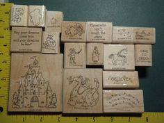 DREAMS & DRAGONS Fanstasy MAGIC RARE Retired STAMPIN UP Rubber Stamp Set Lot