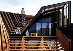 27 ideas for wooden stairs architecture house Stairs Architecture, Architecture Details, Interior Architecture, Architecture Student, Outside Stairs, Outdoor Stairs, Exterior Stairs, Wooden Stairs, Modern Exterior