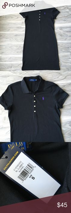 """Ralph Lauren black Polo dress S NWT Ralph Lauren black Polo dress S. Would be a cute tennis dress or causal wear. Very comfortable. About 37"""" in length Polo by Ralph Lauren Dresses Midi"""