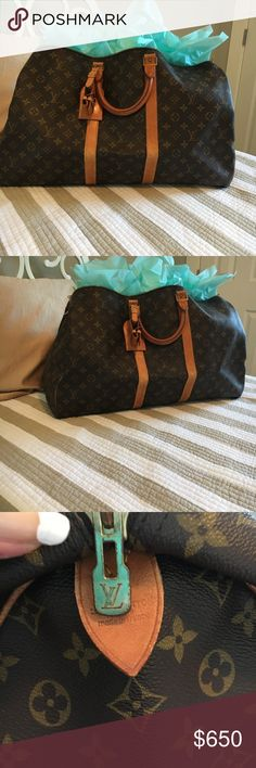Authentic Louis Vuitton Keepall carry-on bag Authentic LV keepall..  pristine condition. Date code available for serious inquiries. Shoulder strap also available for additional $100...  no lock/key, dustbag available😍 Louis Vuitton Bags Travel Bags