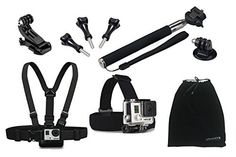 Oumers Accessories kit / bundle 8-in-1 Telescoping Handheld Monopod + Chest Body Strap Belt Mount + Head Strap Mount + Screws, 8 in 1 8pcs Accessories Set / Accessory Bundles For GoPro Hero HD, Hero 4 Silver Black, Hero 3+, Hero 3, Hero 2, Hero 1, GoPro Camera Accessories by Oumers via https://www.bittopper.com/item/oumers-accessories-kit-bundle-8-in-1-telescoping-handheld/