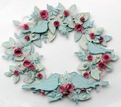 Paper Roses & Birds Wreath, Valentine's & Romantic Crafts