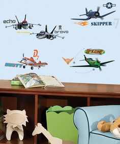 Another great find on #zulily! Planes Peel & Stick Wall Decal Set #zulilyfinds