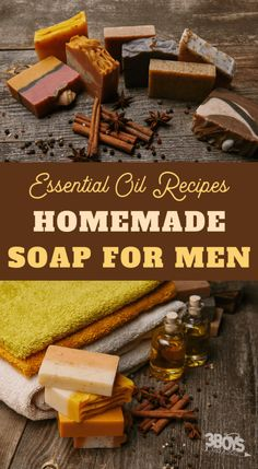 This essential oil soap recipe for men provides a woodsy, spicy scent that men will love. This recipe makes the perfect DIY gift for the men in your life! # Skin Care for men homemade gifts Essential Oil Soap Recipe for Men Handmade Soap Recipes, Soap Making Recipes, Handmade Soaps, Diy Soaps, Savon Soap, Mens Soap, Essential Oils Soap, Essential Oil For Men, Homemade Beauty Products