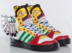 Adidas Jeremy Scott Totem Eagle Wings Shoes #jeremyscott #shoes #adidas
