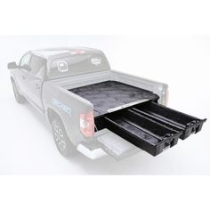 DECKED Pick Up Truck Storage System for GM Sierra or Silverado Classic is an innovative, weatherproof truck bed storage and organization solution. Truck Bed Tool Boxes, Truck Bed Storage, Deck Storage, Van Storage, Secure Storage, Toyota Tundra, Toyota Tacoma, Radios, Nascar