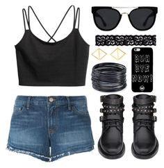 """""""Bye Now"""" by joslynaurora on Polyvore featuring Yves Saint Laurent, J Brand, Quay, Akira, ABS by Allen Schwartz and Arme De L'Amour"""