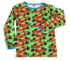 Smafolk Shirt LS Racingcar apple green