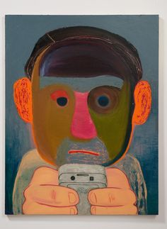 Nicole Eisenman, Breakup, Oil and mixed media on panel, 56 x 43 inches. Collection of Robert and Bonnie Friedman, Los Angeles. Bard College, Tech Art, Institute Of Contemporary Art, Contemporary Paintings, The New Yorker, Figure Painting, Painting & Drawing, Painting People, Art Basel