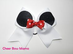 Cheer Bow made with Minnie Mouse Ears & Bow by Cheer Bow Mama