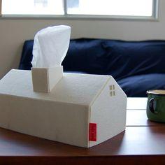 House Tissue Box Cover